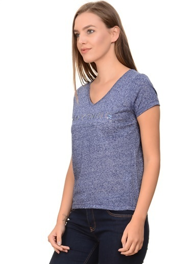 Only Only V Yaka Mavi T-Shirt Mavi